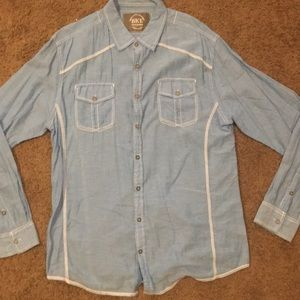 Men's light blue button down